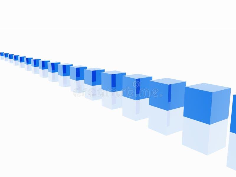 Blaue Würfel stock abbildung