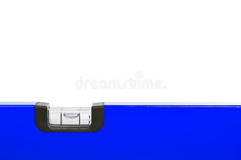 Blaue Wasserwaage stockbild