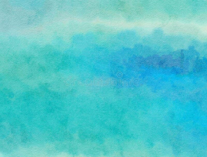Blaue Watercolour-Papier-Wäsche stockbilder