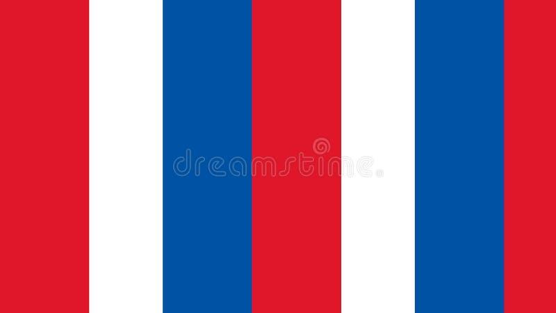 Blaue weiße rote farbige Stangen und Spalten von Thema der amerikanischen Flagge Juli-vierter vektor abbildung