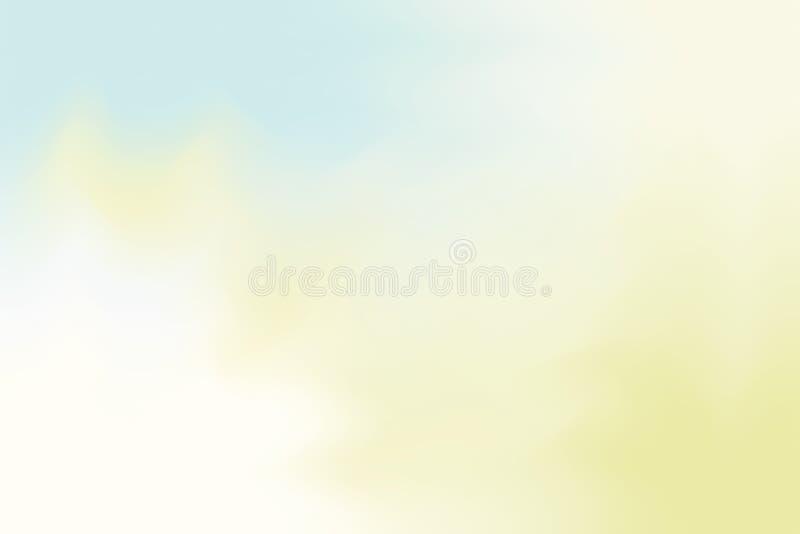 Blaue weiche Farbe mischte Hintergrundmalerei-Kunst-Pastellzusammenfassung, bunte Kunsttapete lizenzfreie abbildung
