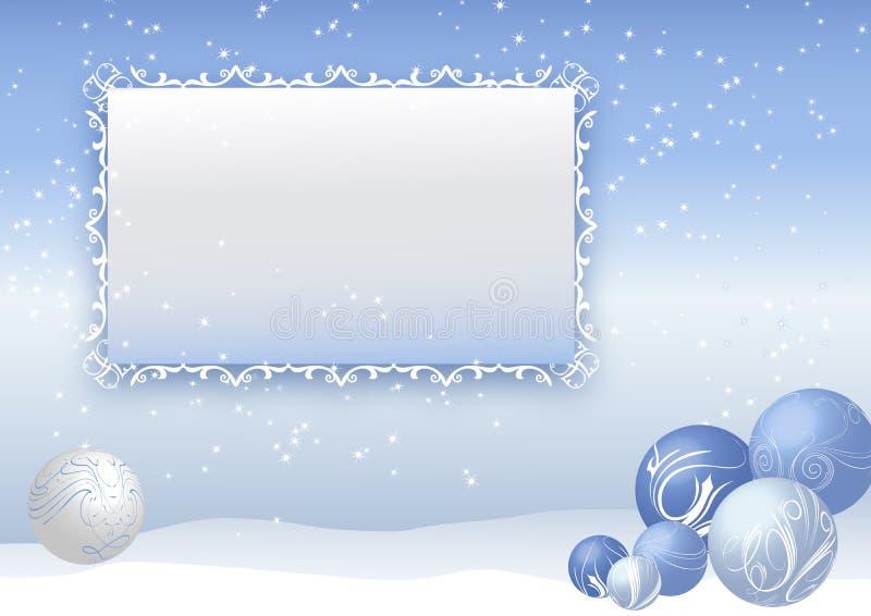 Blaue Weihnachtsbaumkugeln vektor abbildung
