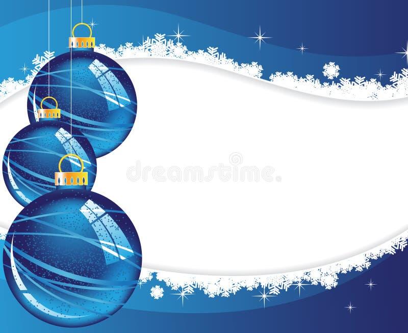 Blaue Weihnachtsdekorationen lizenzfreie abbildung