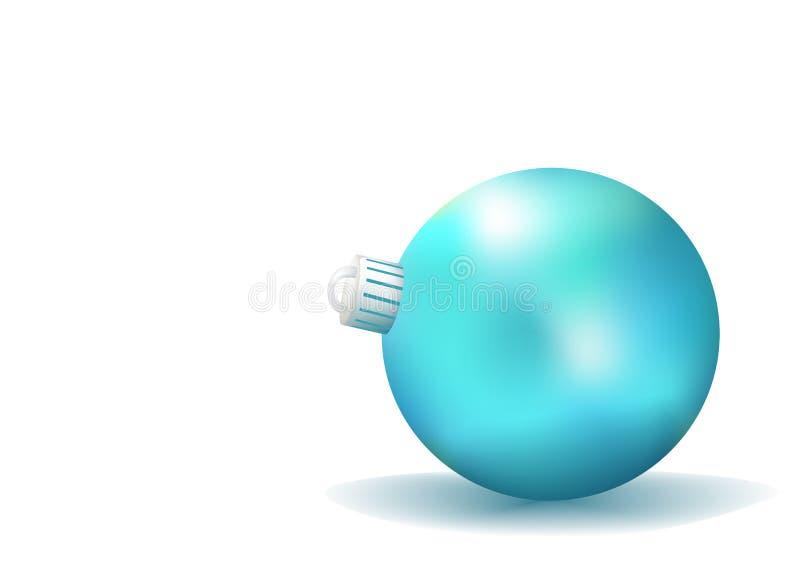 Blaue Weihnachtskugel stock abbildung