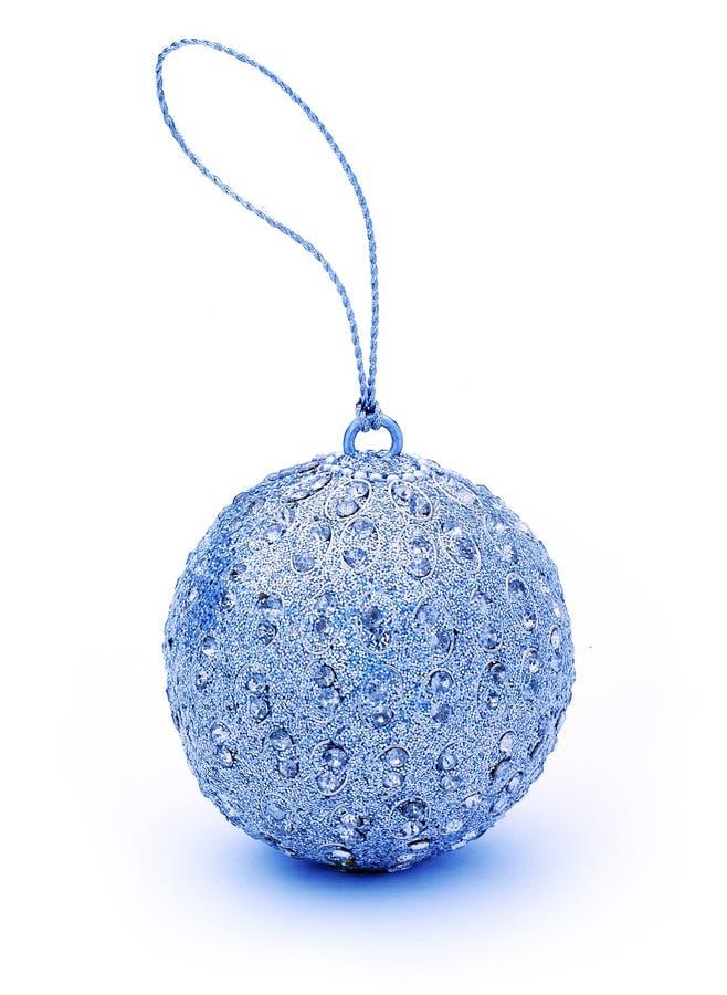 Blaue Weihnachtsverzierung stockfotografie