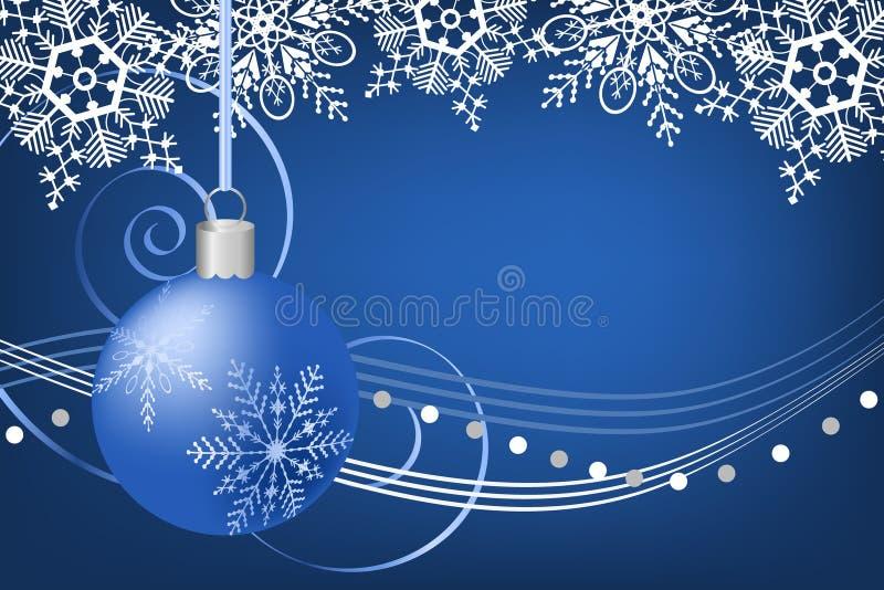 Blaue Weihnachtsverzierung lizenzfreie abbildung