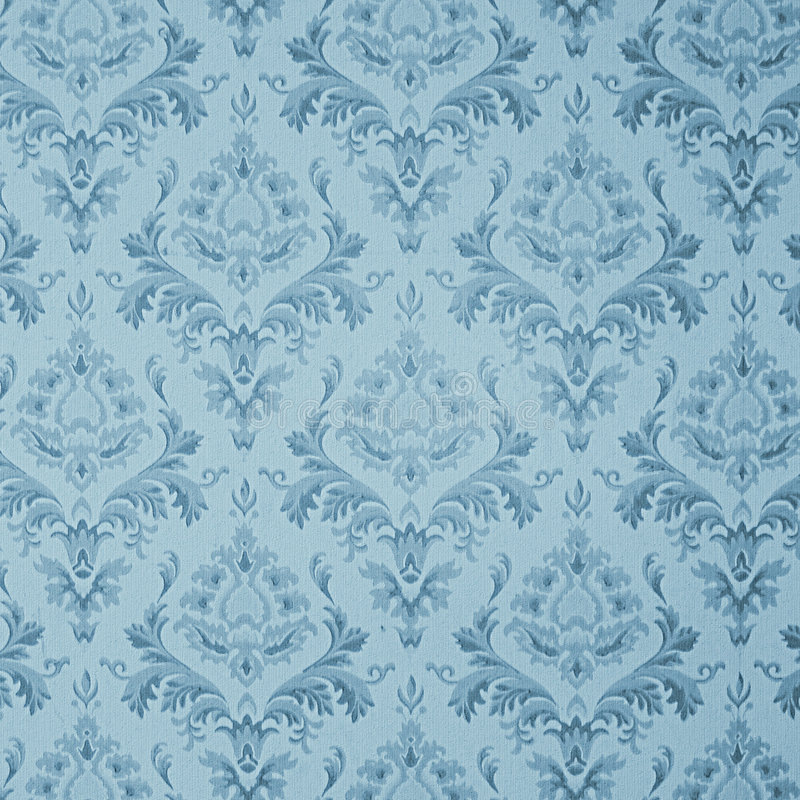 Blaue Weinlesetapete stock abbildung