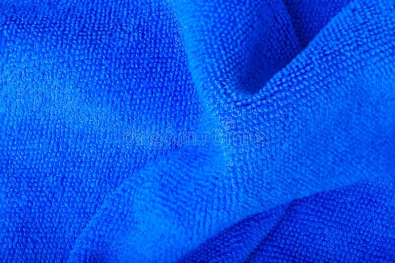 Blaue Welle microfiber Gewebebeschaffenheit stockbild