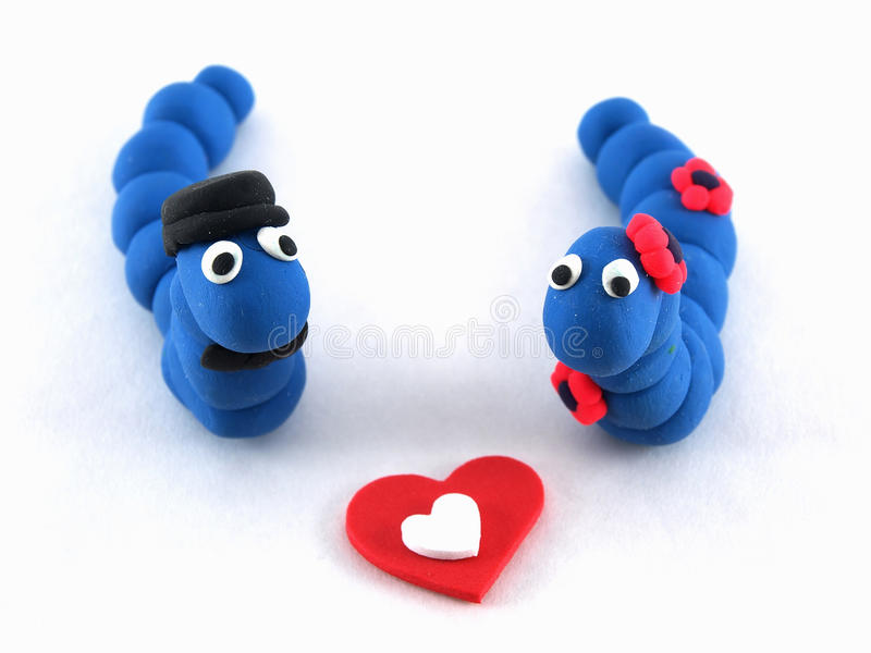 Blaue Werm Paar-Liebe stockfotografie
