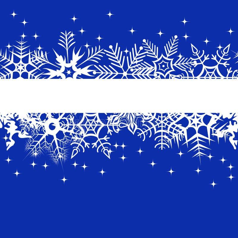 Blaue Winterfahne lizenzfreie abbildung