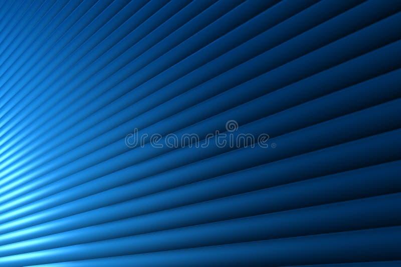 Blaue Zeile stock abbildung