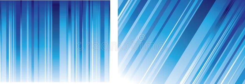 Blaue Zeilen Hintergründe vektor abbildung