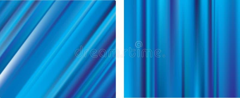 Blaue Zeilen Steigungineinander greifen-Unschärfenhintergründe vektor abbildung