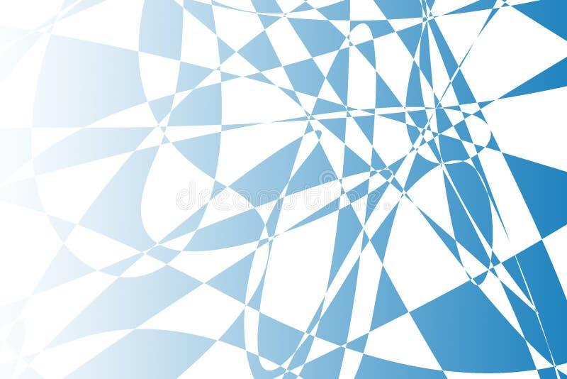 Blaue Zusammenfassung formt Hintergrundillustration stock abbildung
