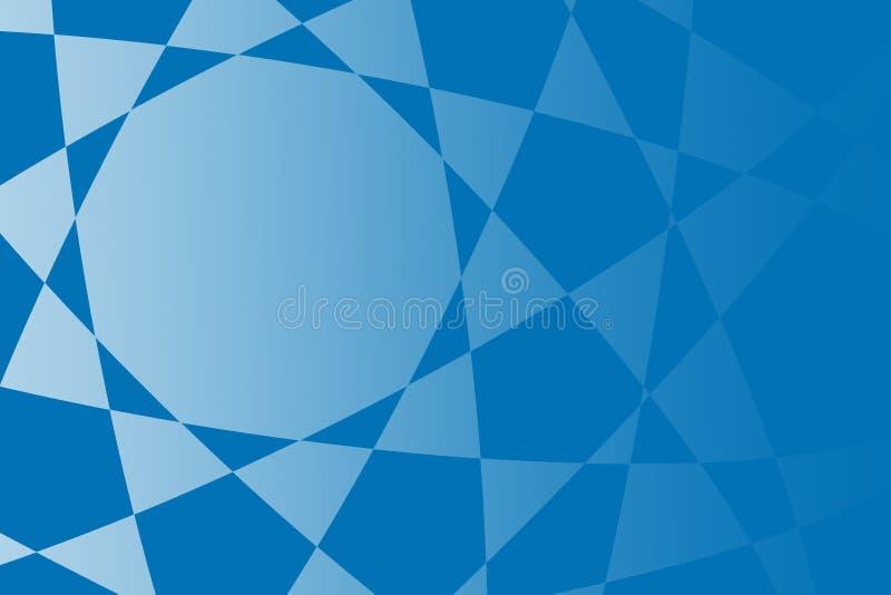 Blaue Zusammenfassung formt Hintergrundillustration vektor abbildung