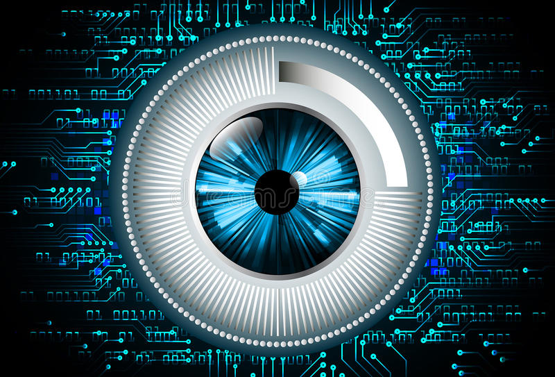 Blaue Zusammenfassungshallo Geschwindigkeitsinternet-Technologiehintergrundillustration lizenzfreie abbildung