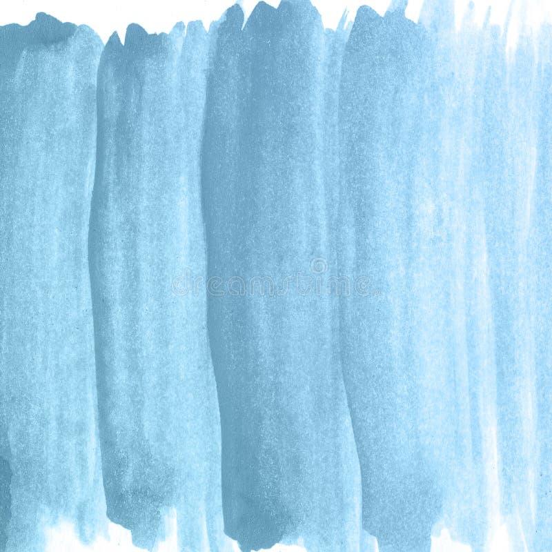 Blauer Ökologiehandaquarellhintergrund, Rasterillustration lizenzfreies stockfoto