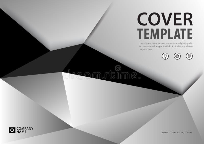 Blauer Abdeckung Schablone polygonaler Hintergrund, horizontale Gliederung, Geschäftsbroschürenflieger, Jahresbericht, Buch vektor abbildung