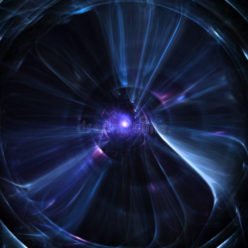 Blauer abstrakter AugeFractal lizenzfreie abbildung