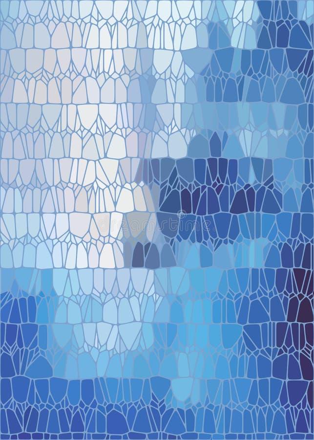 Blauer abstrakter Buntglashintergrund lizenzfreie abbildung