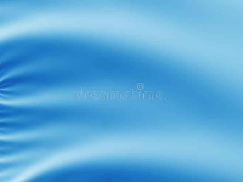 Blauer abstrakter Fractalhintergrund, der gefaltetem feinem Seiden- oder Satingewebe ähnelt lizenzfreie abbildung
