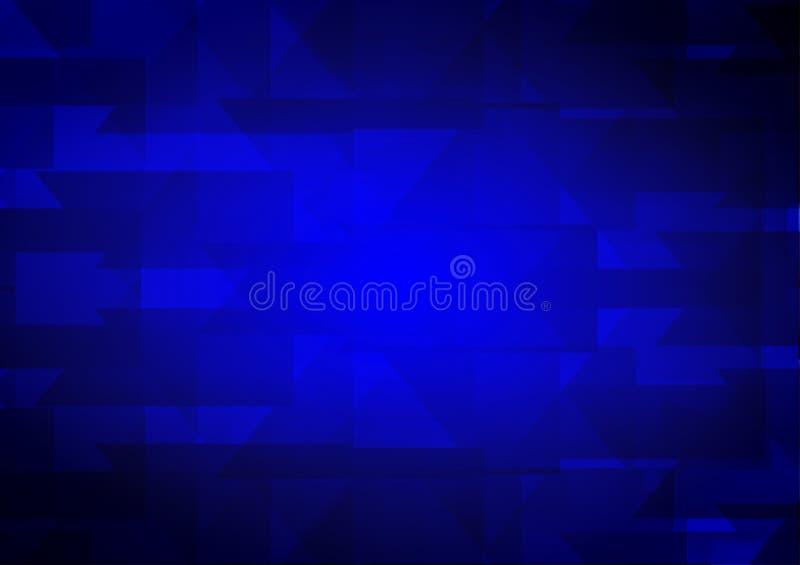 Blauer abstrakter geometrischer Vektorhintergrund mit Kopienraum, Vektorillustration lizenzfreie abbildung