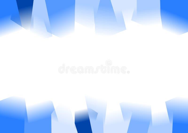 Blauer abstrakter gezackter Hintergrund lizenzfreie abbildung