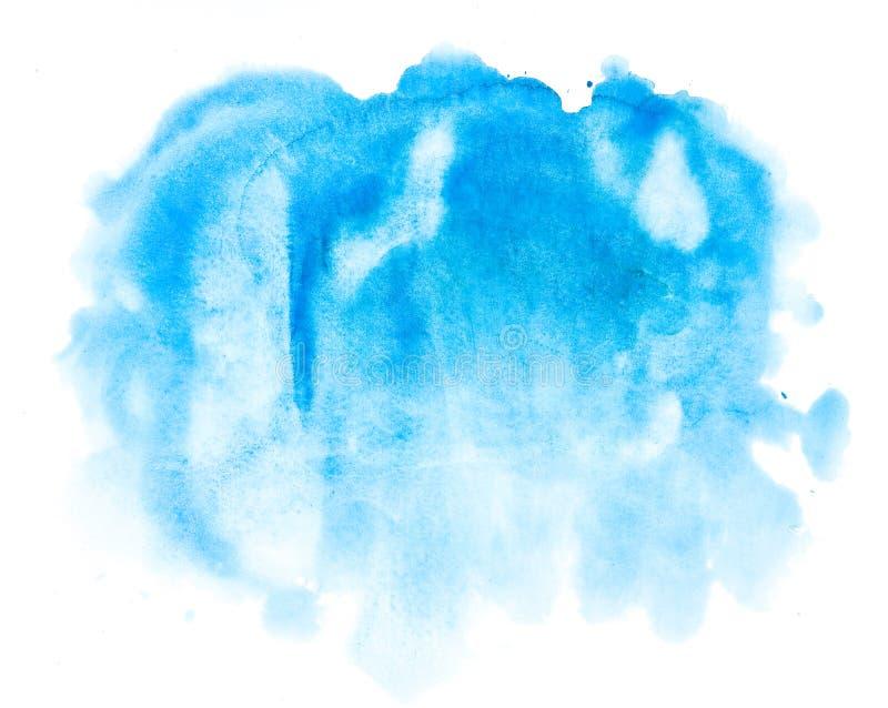 Blauer abstrakter Hintergrund des Aquarells lizenzfreie stockbilder
