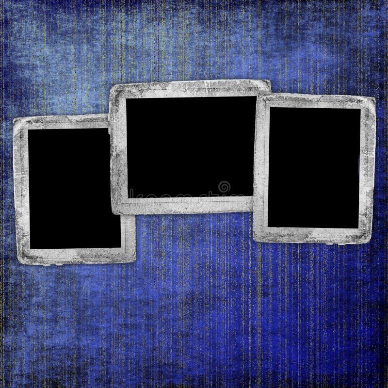 Blauer abstrakter Hintergrund mit Feldern lizenzfreie abbildung