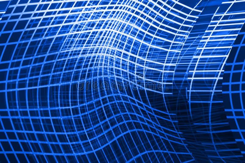 Blauer abstrakter Hintergrund mit gekrümmten Linien vektor abbildung
