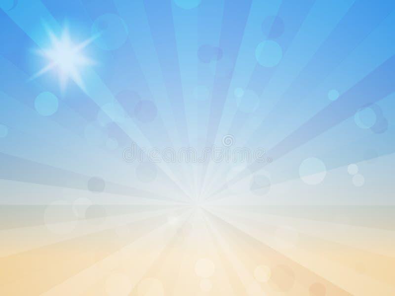 Blauer abstrakter Hintergrund mit Linien und Kreisen vektor abbildung
