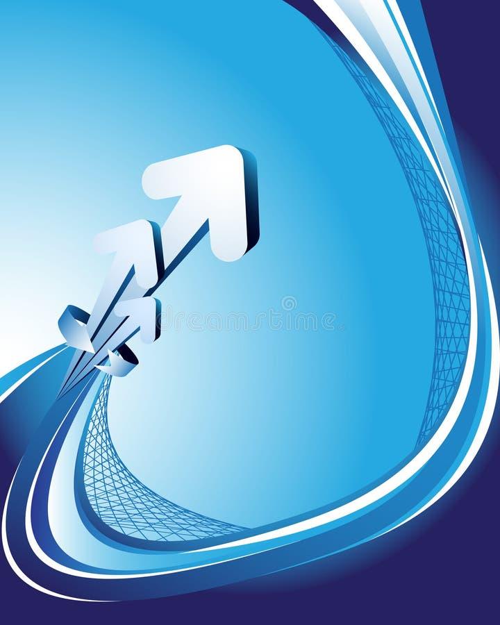 Blauer abstrakter Hintergrund mit Pfeilen vektor abbildung