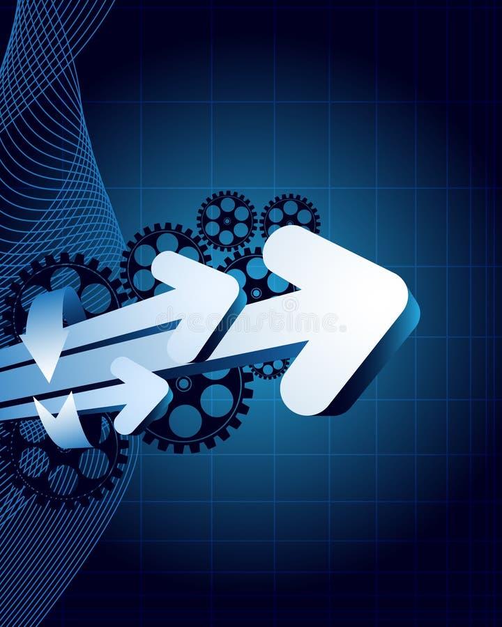 Blauer abstrakter Hintergrund mit Platz für Text vektor abbildung