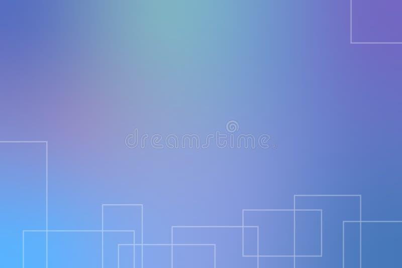 Blauer abstrakter Hintergrund mit Platz f?r Ihren Text Auch im corel abgehobenen Betrag stock abbildung