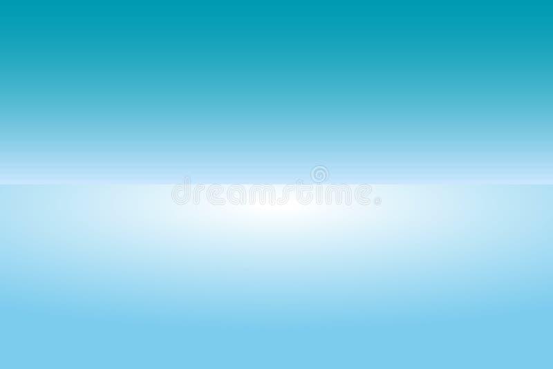 Blauer abstrakter Hintergrund, Schirmhintergrund lizenzfreie abbildung