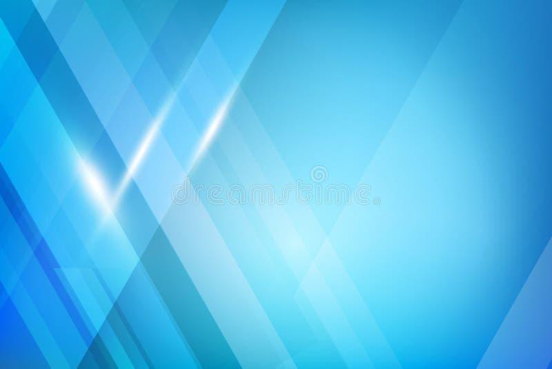 Blauer abstrakter Hintergrundgeometrieglanz und Schichtelementvektor vektor abbildung