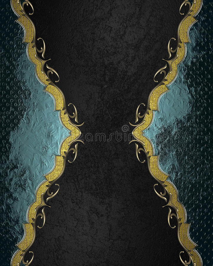 Blauer abstrakter Rahmen auf schwarzem Hintergrund Element für Entwurf Schablone für Entwurf kopieren Sie Raum für Anzeigenbrosch stockfotos