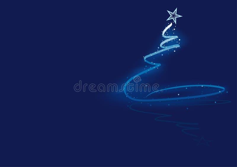 Blauer abstrakter Weihnachtsbaum lizenzfreie abbildung