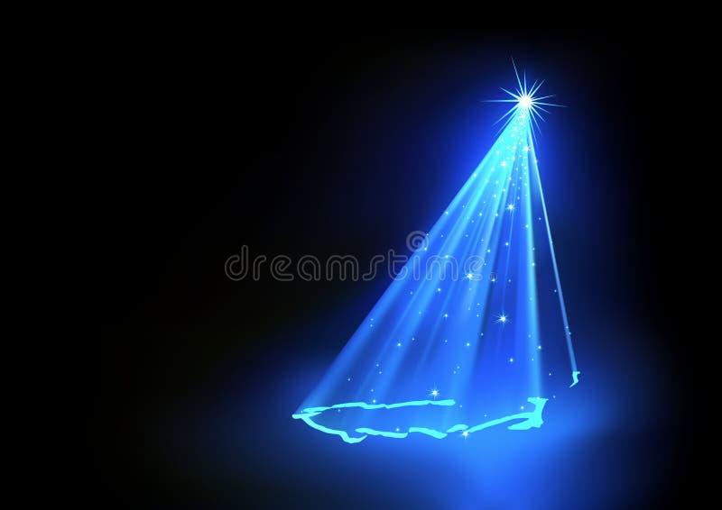 Blauer abstrakter Weihnachtsbaum vektor abbildung