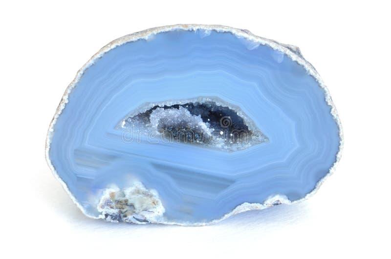 Blauer Achat Geode stockfotografie