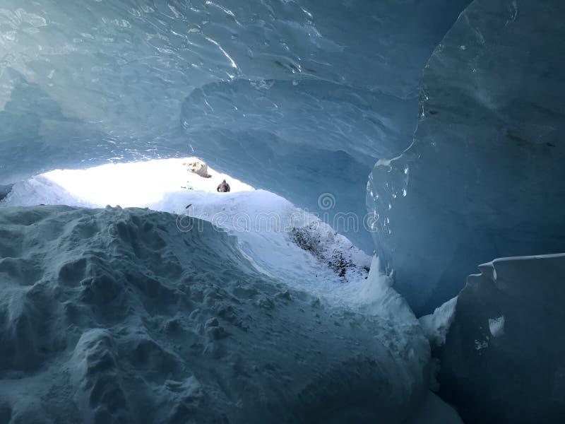 Blauer alaskischer Gletscher lizenzfreie stockfotografie