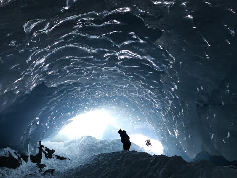 Blauer alaskischer Gletscher stockfoto