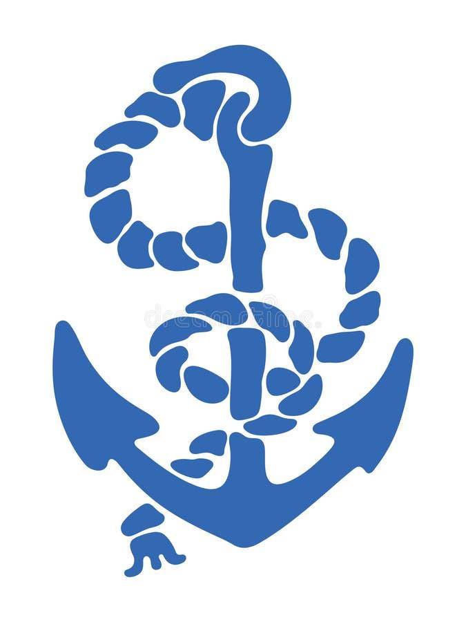 Blauer Anker stock abbildung