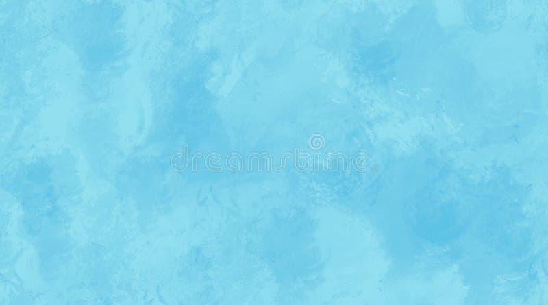 Blauer Aquarell-Hintergrund-nahtlose Fliesen-Beschaffenheit stock abbildung