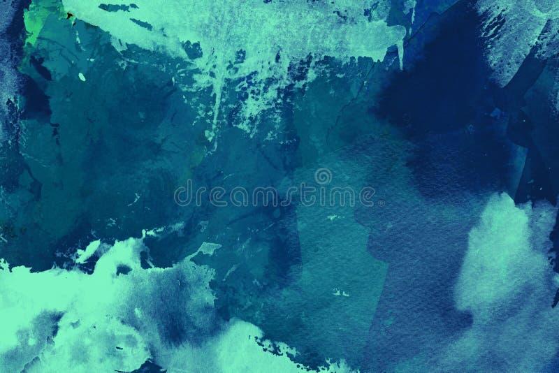 Blauer Aquarellhintergrund lizenzfreie abbildung