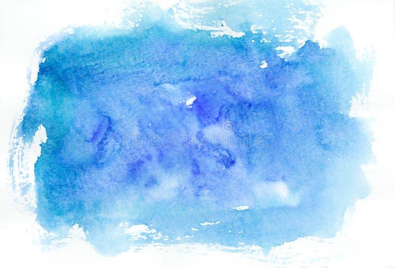 Blauer Aquarellhintergrund vektor abbildung