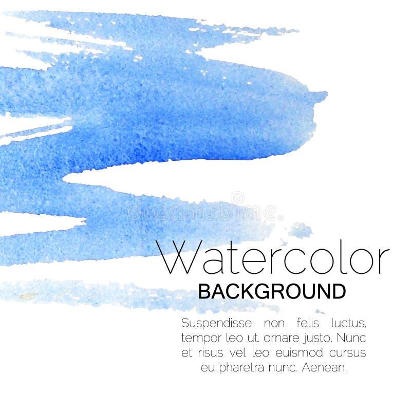 Blauer Aquarellhintergrundschwarztext stock abbildung