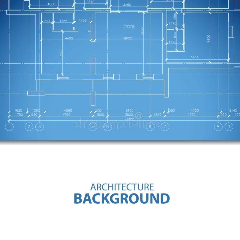 Blauer Architekturplan vektor abbildung