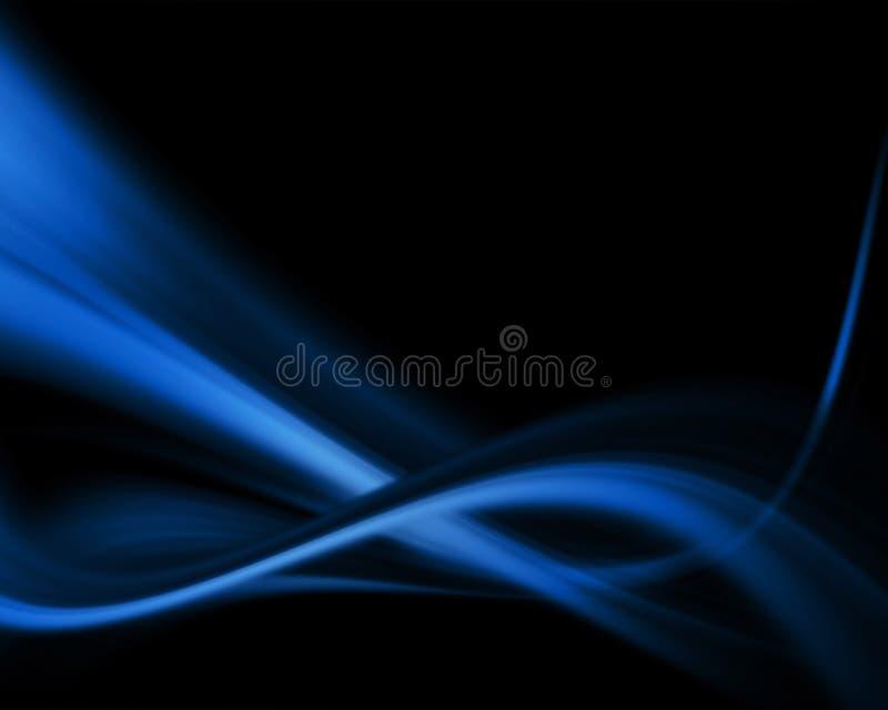 Blauer Auszug stock abbildung