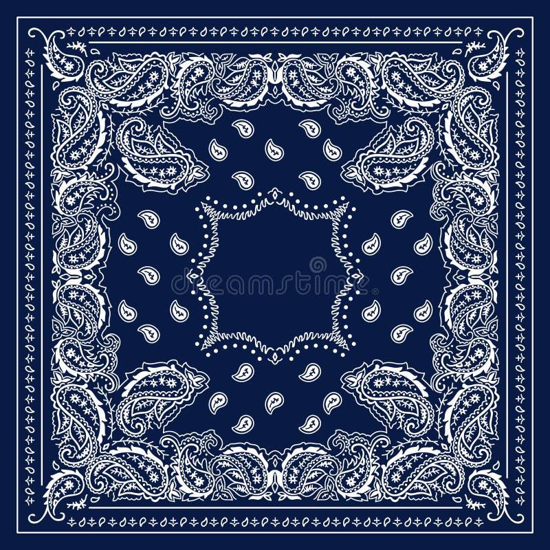 Blauer Bandana lizenzfreie abbildung